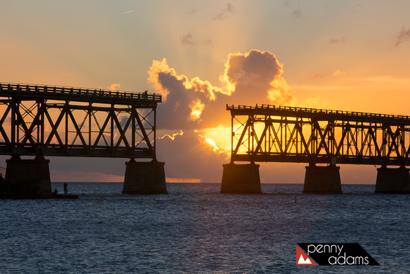 Bahia Honda State Park at Sunset, Florida Keys