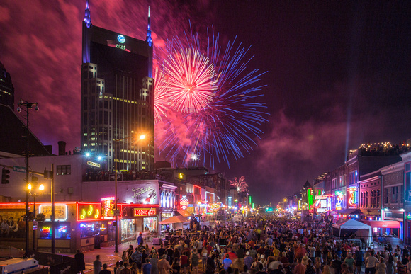 Music City July 4th From Broadway, Nashville, TN 2018