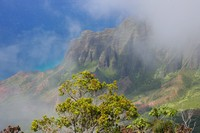 Clearing Fog, Kalalau Lookout, Kauai, Hawaii