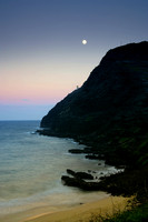 Moon Rise Over Makapuu Lighthouse, Oahu, Hawaii