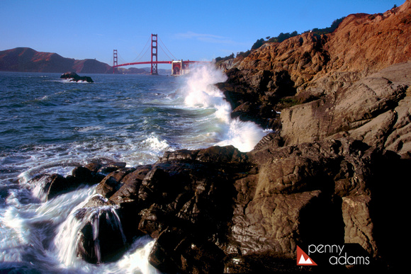 Golden Gate Bridge at Baker Beach, San Francisco, California