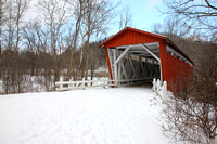 Everett Road Covered Bridge in Winter, Cuyahoga National Park, N
