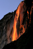 Horsetail Falls at Sunset, Yosemite National Park, California