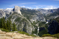Yosemite Valley, as seen from overlook Near Glacier Point, Yosem