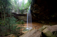 Ash Cave Waterfall in Spring, Hocking Hills State Park, Ohio