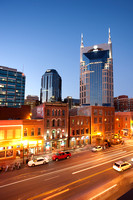 Aerial Above Lower Broadway, Nashville, Tennessee