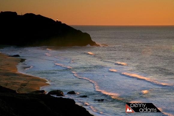 Point Sur Light Station At Sunset Big Sur California